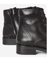 Boots Beane en cuir Minelli en coloris Black
