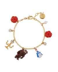- Bracelet Multi Pampilles La Belle Et La Bête N2 en coloris Brown