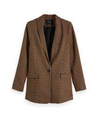 Veste blazer ajustée Scotch & Soda en coloris Brown