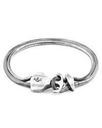 Bracelet Chaîne Argent 925 Ancre DELTA Anchor & Crew pour homme en coloris Metallic