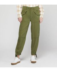 Pantalon cargo droit fluide kaki Polo Ralph Lauren en coloris Green