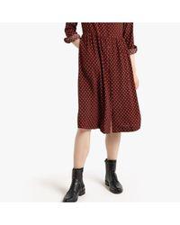 Robe chemise manches longues imprimée LA REDOUTE en coloris Brown