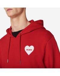 Sweat capuche Peace coeur Sandro pour homme en coloris Red