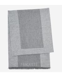 Hackett - Gray Echarpe colour block en laine de mérinos for Men - Lyst