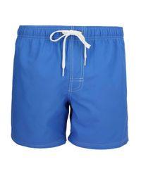 Short de bain mi-long dos rayures contrastantes en forme de demi cercle Sundek pour homme en coloris Blue