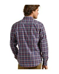 Chemise chaude à carreaux Mat De Misaine pour homme en coloris Blue