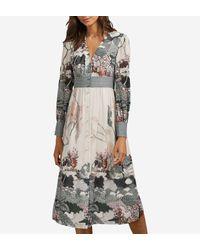 Robe cintrée Nynina mi-longue Ted Baker en coloris Multicolor