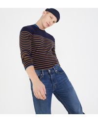 Pull en laine à rayures façon marinière Deauville Armor Lux pour homme en coloris Blue