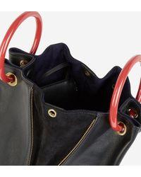 Sac bourse Deila cuir noir Tammy & Benjamin en coloris Black