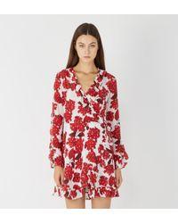 Robe De Hortensia Portefeuille Femme Coloris Rouge Tlu3KF1Jc