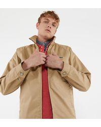 Blouson court en twill de coton Lacoste pour homme en coloris Natural