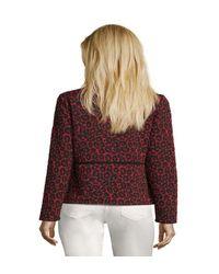 Cardigan façon t-shirt à motifs Betty Barclay en coloris Red