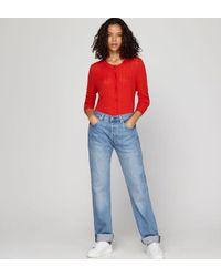 Gilet Jemuel droit laine Mérinos Comptoir Des Cotonniers en coloris Red