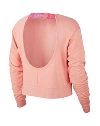 Sweat Crew droit à dos ouvert Nike en coloris Pink