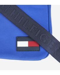Sacoche zippée en nylon Tommy Hilfiger pour homme en coloris Blue