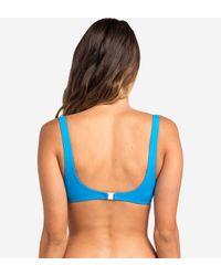 Haut de maillot de bain Heat Waves Rip Curl en coloris Blue