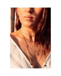 Collier Gold filled Lettre W et sequin Summer Love YAY Paris en coloris Metallic