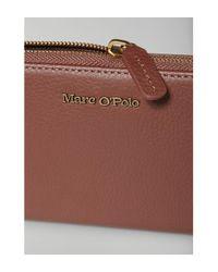 Porte-monnaie en cuir de vachette véritable Marc O'polo en coloris Brown