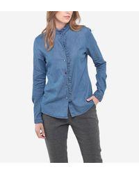 Chemise ajustée Michelle Le Temps Des Cerises en coloris Blue