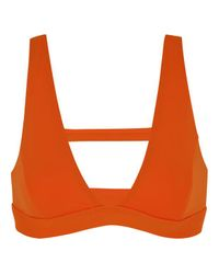 Soutien-gorge triangle maillot de bain Halter Mirage Essential Rip Curl en coloris Orange