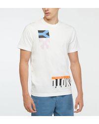 T-shirt droit coton blanc signature Y-3 pour homme en coloris White