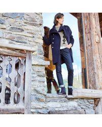 Manteau long mélange laine, style militaire LA REDOUTE en coloris Multicolor