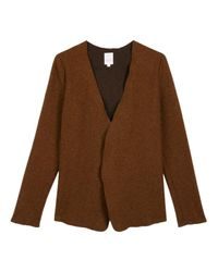 Gilet Laine Soi Paris en coloris Brown