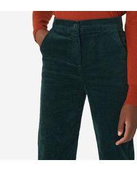 Pantalon large en velours côtelé Nice Things en coloris Green