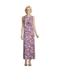 Robe maxi longueur sans manches Betty Barclay en coloris Purple