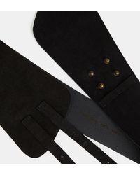 Ceinture corset large suède Forte Forte en coloris Black