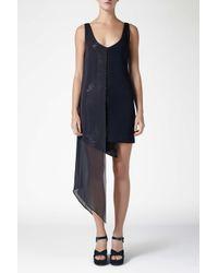 Galvan Blue Serpentine Dress