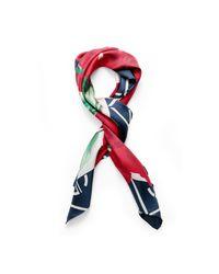 Gant Red Rose Silk Scarf