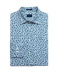 Gant Blue Regular Fit Paisley Print Shirt for men