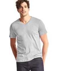 Gap | Gray Essential Short-sleeve V-neck T-shirt for Men | Lyst