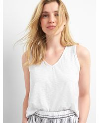 Gap White Slouchy Wrap-back Tank