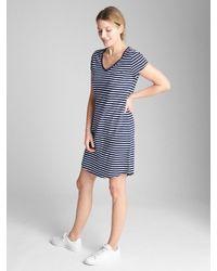 Gap Blue Short Sleeve Pocket T-shirt Dress