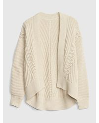 Gap Multicolor Pointelle Ribbed Cocoon Cardigan Sweater