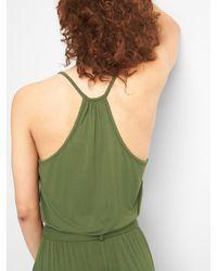 Gap Green Halter-neck Jumpsuit