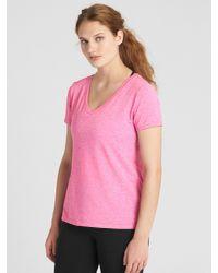 Gap Pink Breathe V-neck T-shirt