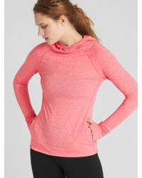 Gap Pink Fit Breathe Pullover Hoodie