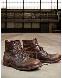 Red Wing Brown Red Wing Iron Ranger Boot for men