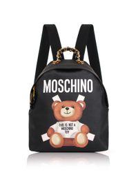 Moschino | Bear Mini Backpack Black | Lyst
