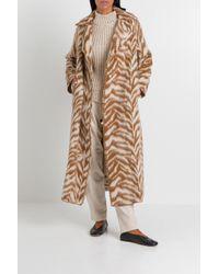 Cappotto lungo zebrato di Forte Forte in Multicolor