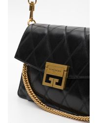 Givenchy Multicolor Gv3 Small Crossbody Bag In Quilted Leather