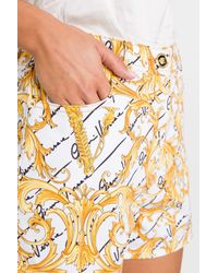 Shorts Barocco di Versace in White