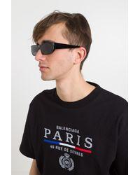 Occhiali da Sole Shield Rectangle di Balenciaga in Multicolor da Uomo