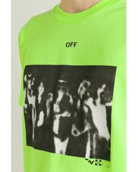 T-shirt Spray Painting di Off-White c/o Virgil Abloh in Green da Uomo