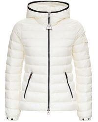 Moncler Bles Down Jacket In White Nylon
