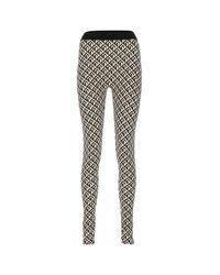 MARINE SERRE Black Stretch Polyester leggings