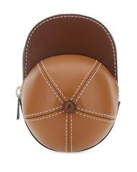 J.W. Anderson Brown Two-tone Leather Nano Cap Crossbody Bag